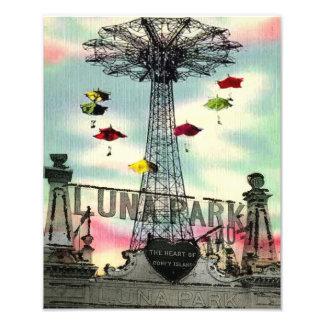 Coney Island Luna Park Amusement park brooklyn ny Photo Print