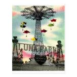 Coney Island Luna Park Amusement park Brooklyn ny Postcard