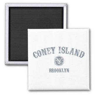 Coney Island 2 Inch Square Magnet