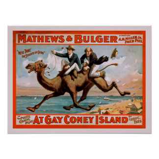 Coney Island Musical Comedy Play Vintage Poster