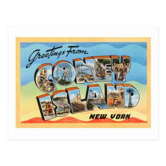 Coney Island New York NY Vintage Travel Postcard -