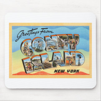 Coney Island New York NY Vintage Travel Postcard - Mouse Pad