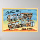 Coney Island New York NY Vintage Travel Postcard - Poster