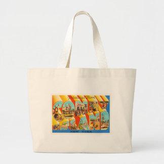 Coney Island New York NY Vintage Travel Souvenir Large Tote Bag