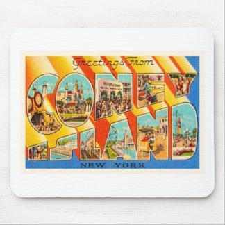 Coney Island New York NY Vintage Travel Souvenir Mouse Pad