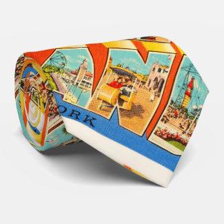 Coney Island New York NY Vintage Travel Souvenir Tie