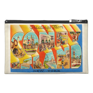 Coney Island New York NY Vintage Travel Souvenir Travel Accessory Bag