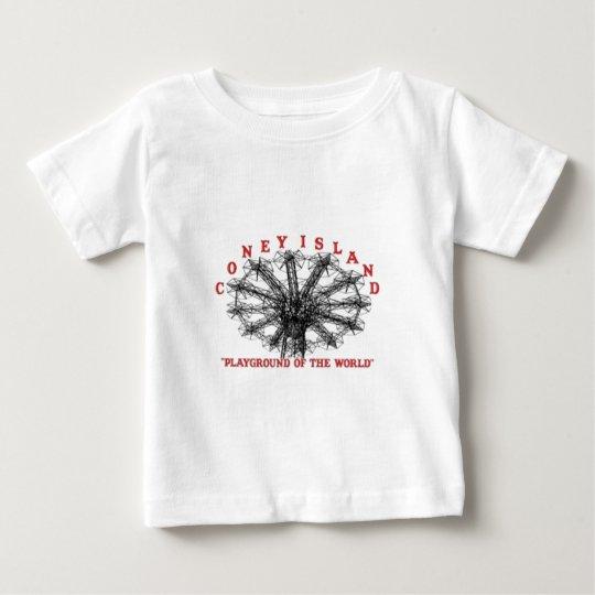 Coney Island New York - Playground of the World Baby T-Shirt