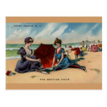 Coney Island NY 1909 Beach Scene Postcard