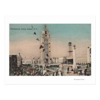 Coney Island, NY - paseo del Dreamland Tarjeta Postal