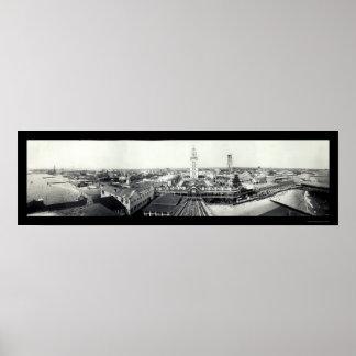 Coney Island NY Photo 1910 Poster