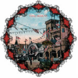 "Coney Island Ornament<br><div class=""desc"">Vintage 1903 image of Coney Island. Makes a great holiday ornament for the tree.</div>"