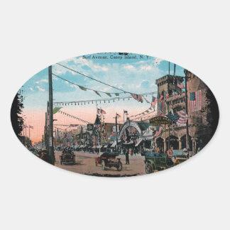 Coney Island Oval Sticker