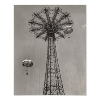 Coney Island Parachute Jump Poster