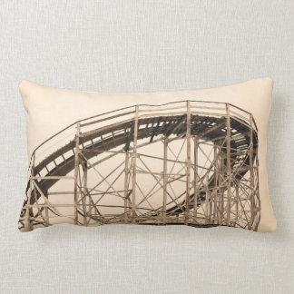 Coney Island Roller Coaster Throw Pillow