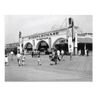 Coney Island Scenes Postcard