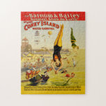 Coney Island Sideshow Poster Jigsaw Puzzles