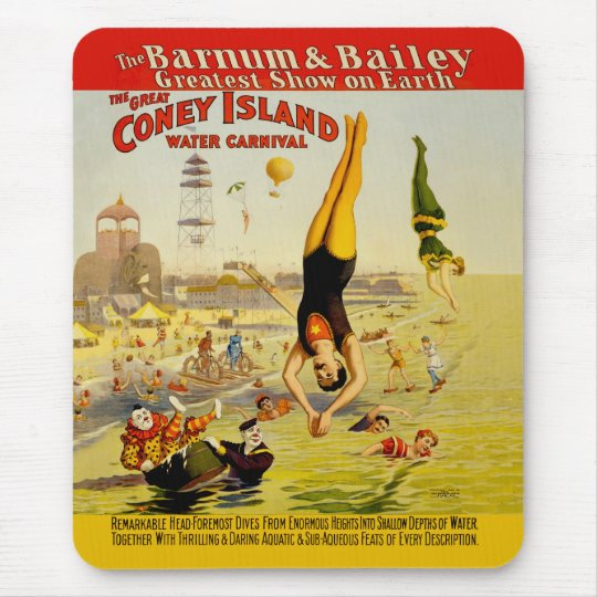 Coney Island Sideshow Poster Mouse Pad