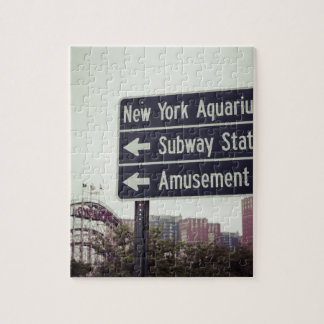 Coney Island Sign Jigsaw Puzzle
