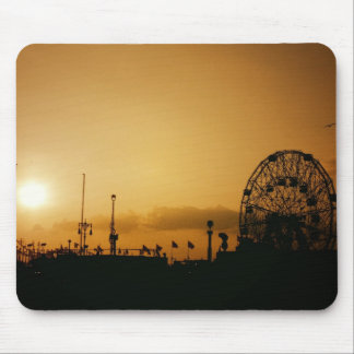 Coney Island Sunset at the Wonder Wheel Mouse Pads