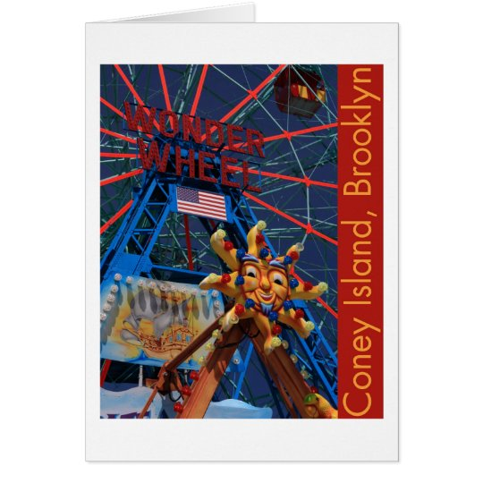 Coney Island Wonder Wheel Card