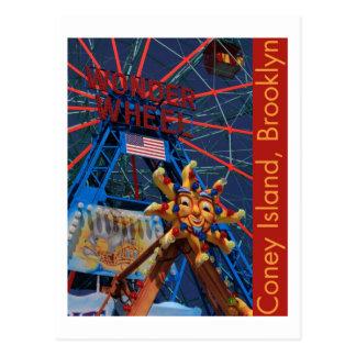 Coney Island Wonder Wheel Postcard