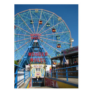 Coney Island Wonder  Wheel Postcard