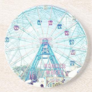 Coney Island Wonderwheel Ferris Wheel in Summer Drink Coaster