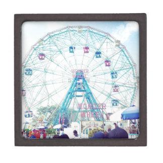 Coney Island Wonderwheel Ferris Wheel in Summer Keepsake Box