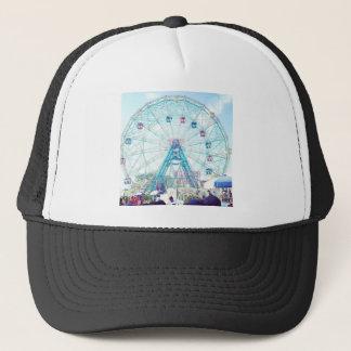 Coney Island Wonderwheel Ferris Wheel in Summer Trucker Hat