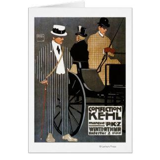 Confection Kehl Gentlemen Clothing Greeting Card