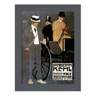 Confection Kehl Gentlemen Clothing Postcard