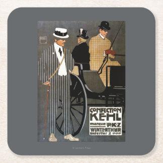 Confection Kehl Gentlemen Clothing Square Paper Coaster