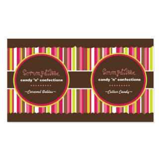 Confection Tags (2 in 1) Double-Sided Standard Business Cards (Pack Of 100)