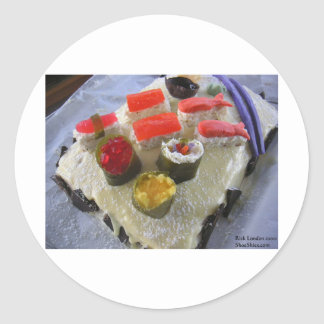 Confectionary Dessert Sushi Gifts Tees Etc Round Sticker