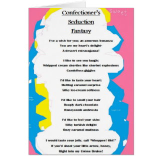 Confectioner's Seduction Fantasy card