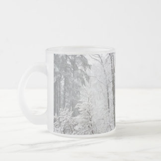 Confections in Snow --- Frosted Glass Coffee Mug