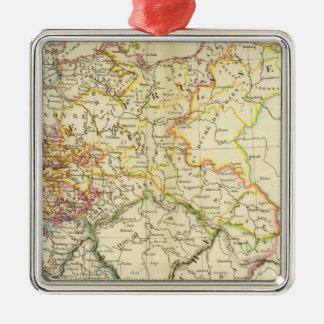 Confederación germánica 2 adorno navideño cuadrado de metal