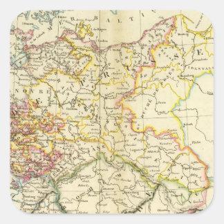Confederación germánica 2 pegatina cuadrada
