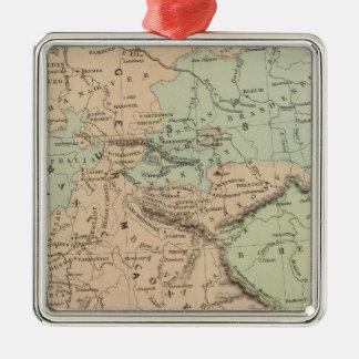 Confederación germánica adorno navideño cuadrado de metal