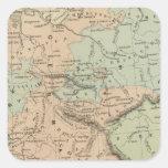 Confederación germánica pegatina cuadrada