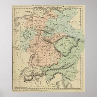 Confederación germánica póster