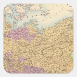 Confederación y Prusia alemanas del norte Colcomanias Cuadradas Personalizadas