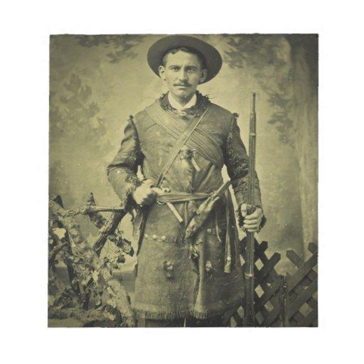 Confederado antiguo Tintype del soldado de la guer Blocs De Papel