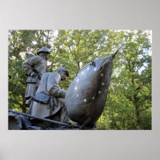 ~ confederado Shiloh, TN del monumento de la guerr Posters