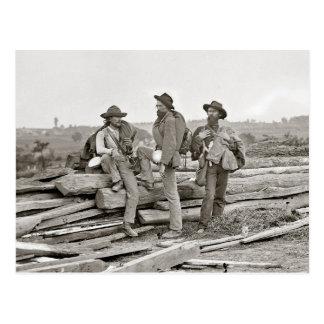 Confederados en Gettysburg, 1863 Postal