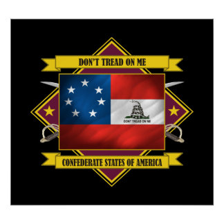 Confederate 1st National -Don't Tread On Me Poster