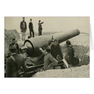 Confederate Army Siege Gun at Fort McAllister Card