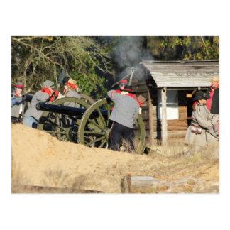 Confederate Artillery Crew Postcard