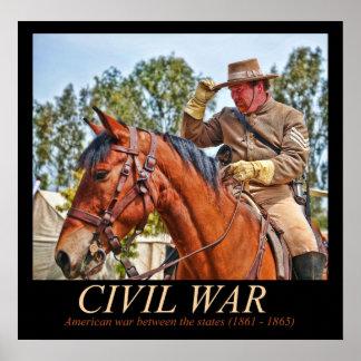 Confederate Cavalry Poster